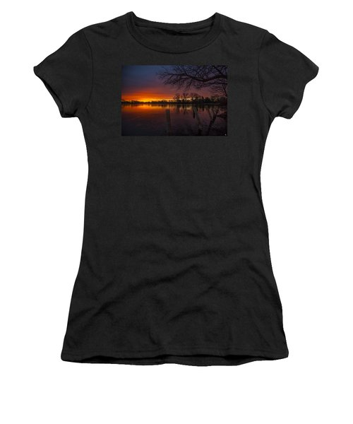 Women's T-Shirt (Junior Cut) featuring the photograph Early Morning Sunrise by Nicholas  Grunas