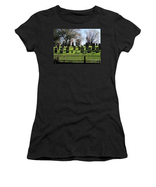 Women's T-Shirt (Junior Cut) featuring the photograph East Hampton  by Ed Weidman
