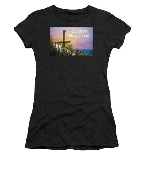 Easter Blessings Cross Women's T-Shirt (Athletic Fit)