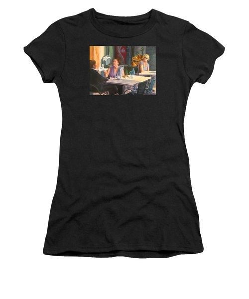 Eavesdropper Women's T-Shirt (Junior Cut) by Connie Schaertl