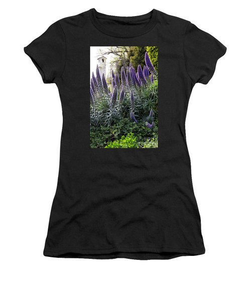 Women's T-Shirt featuring the photograph Echium And Tower by Kate Brown