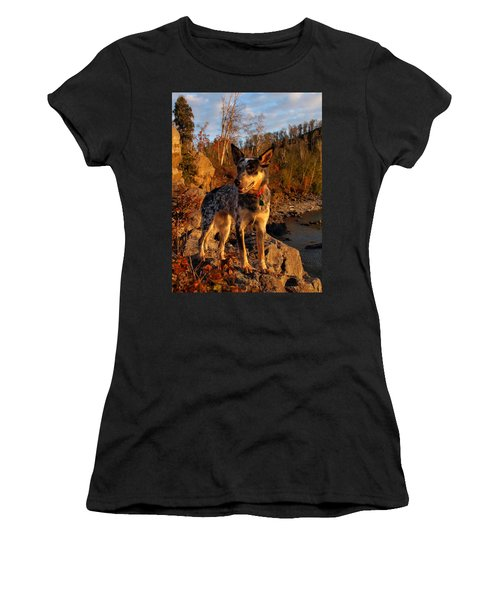 Women's T-Shirt (Junior Cut) featuring the photograph Edge Of Glory by James Peterson