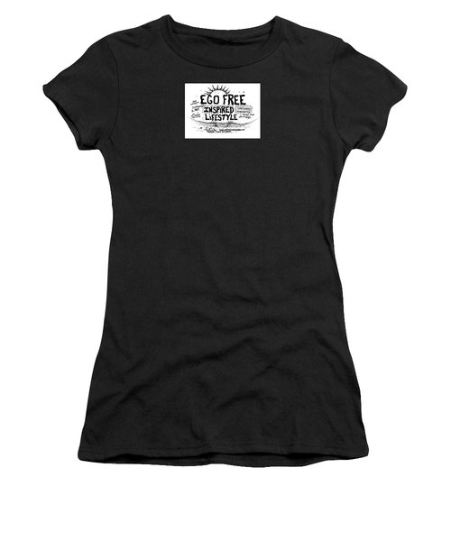 Ego Free Inspired Lifestyle Women's T-Shirt (Athletic Fit)