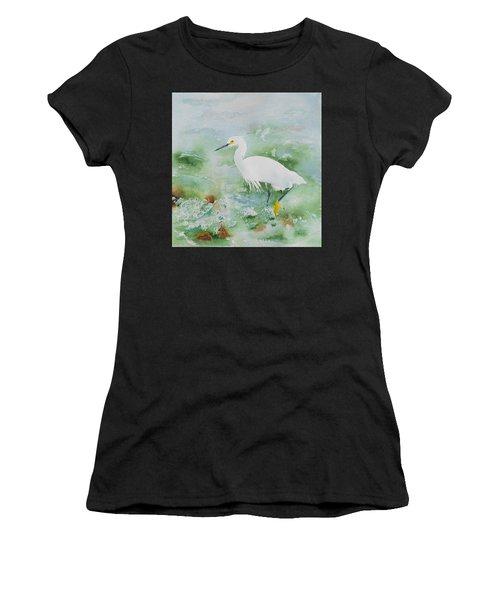 Egret 2 Women's T-Shirt (Athletic Fit)