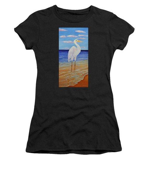 Eager Egret  Women's T-Shirt