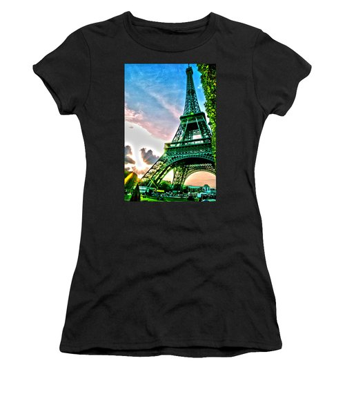 Eiffel Tower 8 Women's T-Shirt (Junior Cut) by Micah May