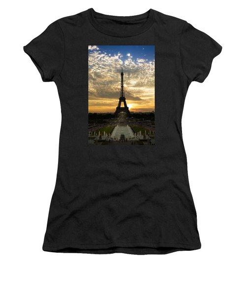 Eiffel Tower At Sunset Women's T-Shirt