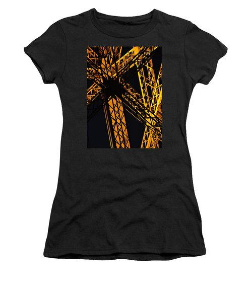 Eiffel Tower Detail Women's T-Shirt (Athletic Fit)