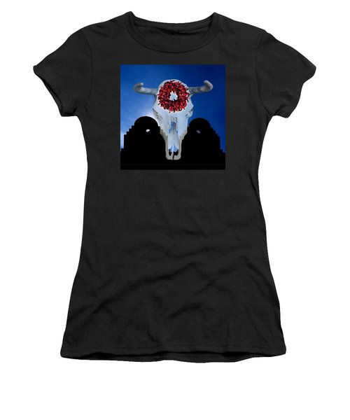 El Dia Los Muertos In Santa Fe Women's T-Shirt (Junior Cut) by Gary Warnimont