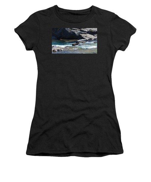 Elbow Falls Landscape Women's T-Shirt (Athletic Fit)