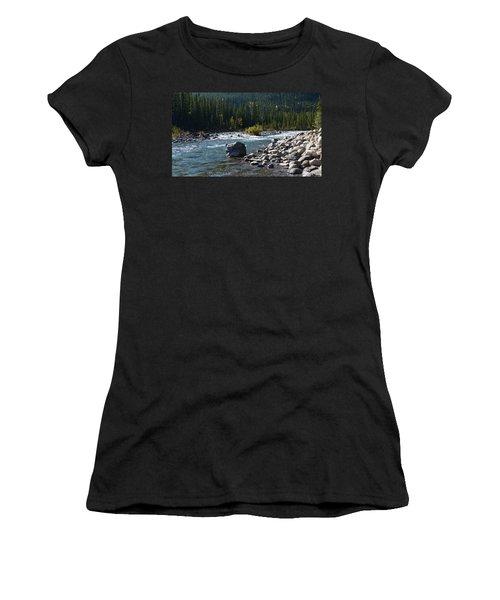 Elbow River Rock Art Women's T-Shirt (Athletic Fit)