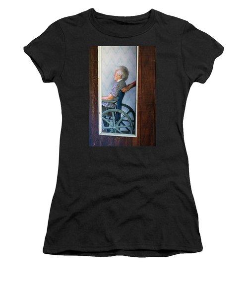 Elderly Woman Being Pushed Women's T-Shirt