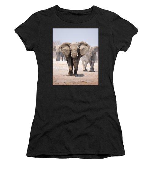 Elephant Bathing Women's T-Shirt