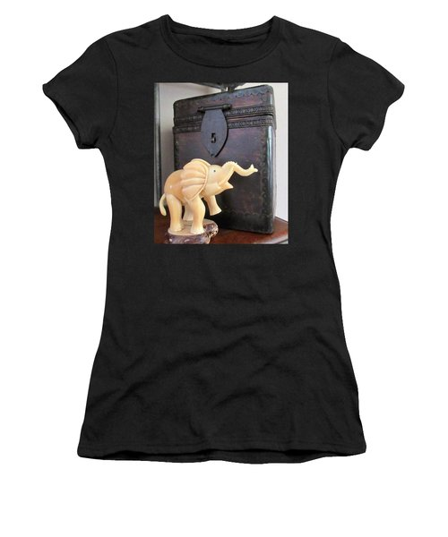 Elephant With Elephant Box Women's T-Shirt (Athletic Fit)