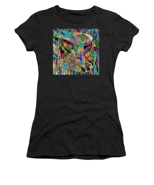 Elephant's Kaleidoscope Women's T-Shirt (Athletic Fit)