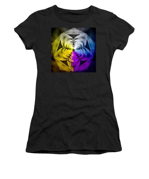 Women's T-Shirt (Junior Cut) featuring the drawing Eleven Magick Stars by Derek Gedney