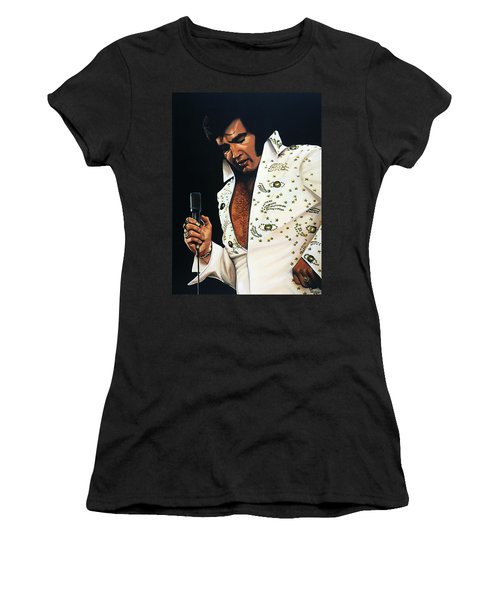 Elvis Presley Painting Women's T-Shirt