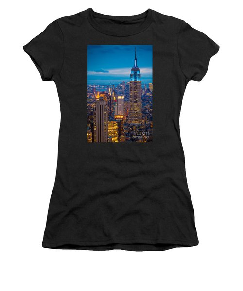 Empire State Blue Night Women's T-Shirt (Athletic Fit)