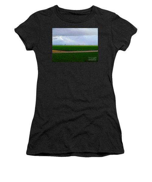 Women's T-Shirt featuring the digital art Empty Green by Luc Van de Steeg