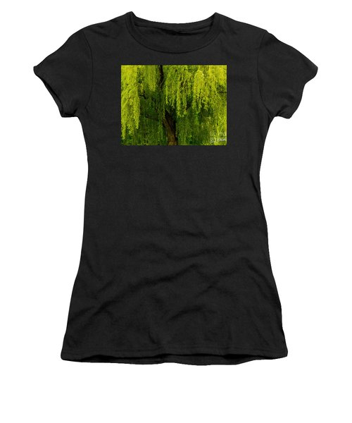 Enchanting Weeping Willow Tree  Women's T-Shirt (Junior Cut) by Carol F Austin