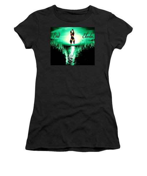 Women's T-Shirt (Junior Cut) featuring the photograph End Ebola by Eddie Eastwood