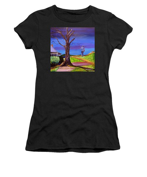 End Of Day Highway 98 Women's T-Shirt (Athletic Fit)