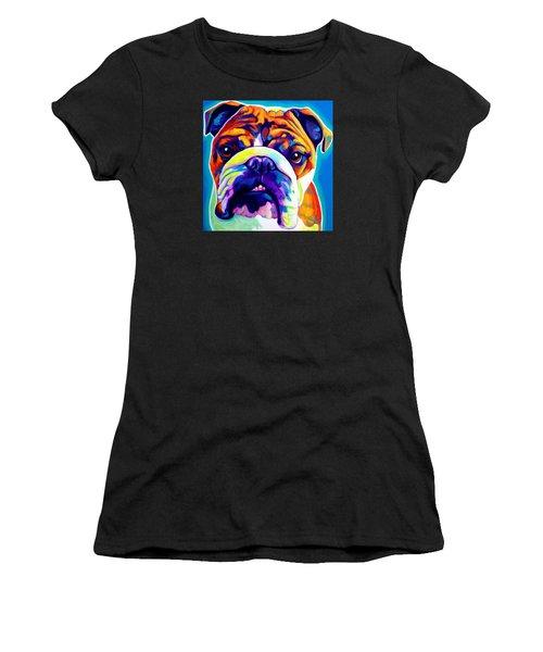 Bulldog - Bond -square Women's T-Shirt (Athletic Fit)