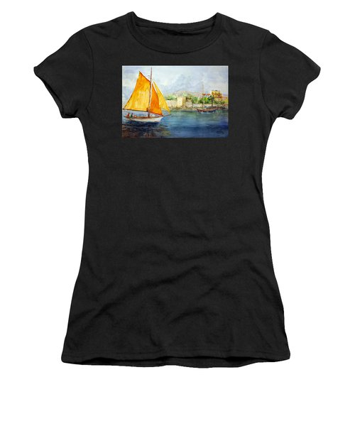 Entering The Port - Foca Izmir Women's T-Shirt (Athletic Fit)