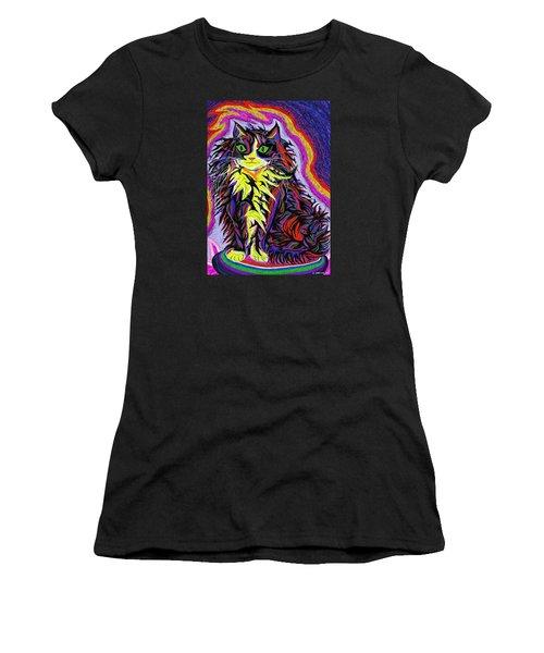 Espacekatt  Women's T-Shirt (Junior Cut) by Robert SORENSEN