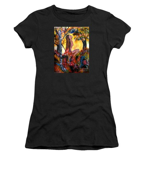 Eve In The Garden Women's T-Shirt (Junior Cut) by Lori  Lovetere