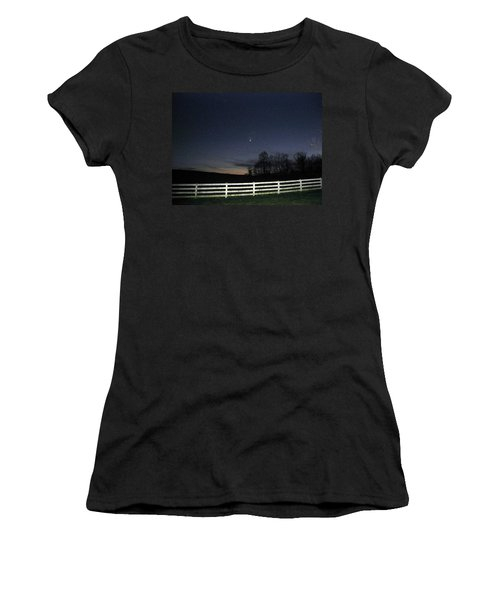 Evening In Horse Country Women's T-Shirt (Athletic Fit)