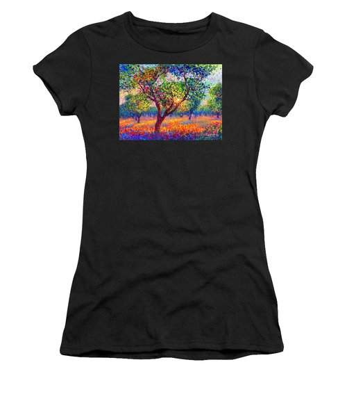 Evening Poppies Women's T-Shirt (Athletic Fit)
