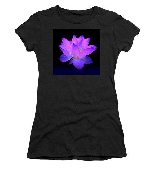 Evening Purple Lotus  Women's T-Shirt (Junior Cut)