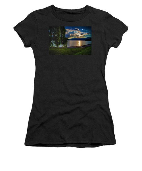 Evening Sun Kisses Lake One Last Time Women's T-Shirt (Athletic Fit)