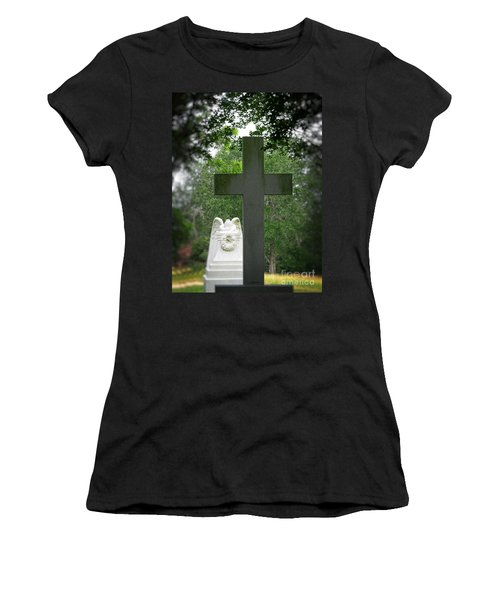 Women's T-Shirt (Junior Cut) featuring the painting Every Knee Shall Bow by Ella Kaye Dickey