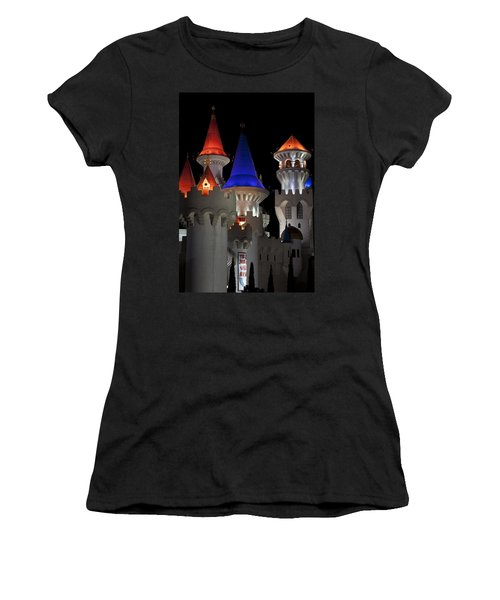Excalibur Casino After Midnight Women's T-Shirt (Junior Cut) by Ivete Basso Photography