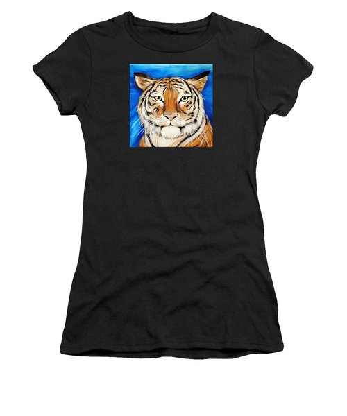 Eye Of The Tiger Women's T-Shirt (Athletic Fit)