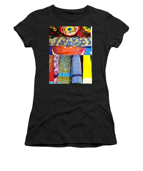 Women's T-Shirt (Junior Cut) featuring the photograph New Orleans Eye See Fabric In Lifestyles by Michael Hoard
