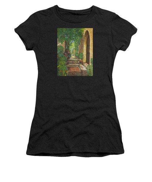 Eze Village Women's T-Shirt (Junior Cut) by Alika Kumar