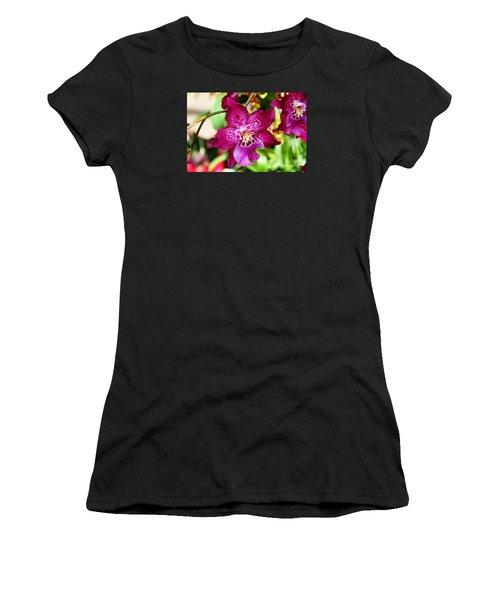 Fabulous Fushia Orchids By Diana Sainz Women's T-Shirt