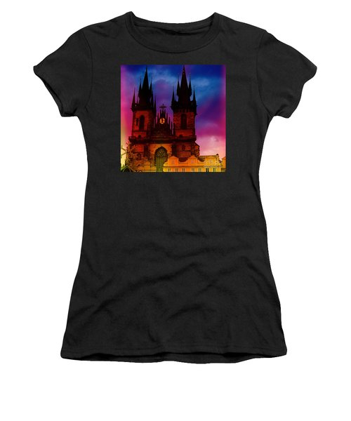 Fairy Tale Castle Prague Women's T-Shirt (Athletic Fit)