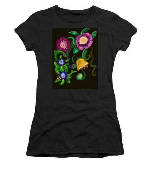 Fairy Tale Flowers Women's T-Shirt (Junior Cut) by Christine Fournier