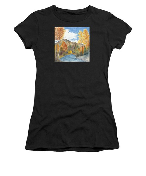 Women's T-Shirt featuring the painting Fall Aspens by Phyllis Howard