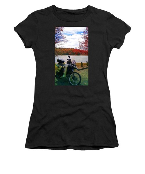 Fall At Fern Clyffe Women's T-Shirt (Athletic Fit)