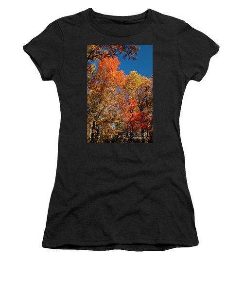 Women's T-Shirt (Junior Cut) featuring the photograph Fall Foliage by Patrick Shupert