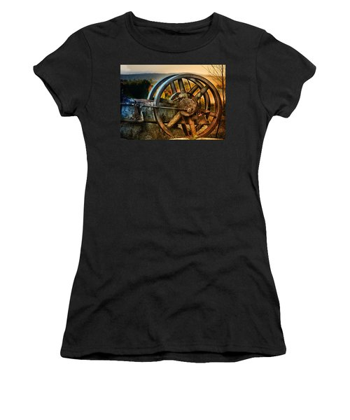 Fall Through The Wheels Women's T-Shirt (Athletic Fit)