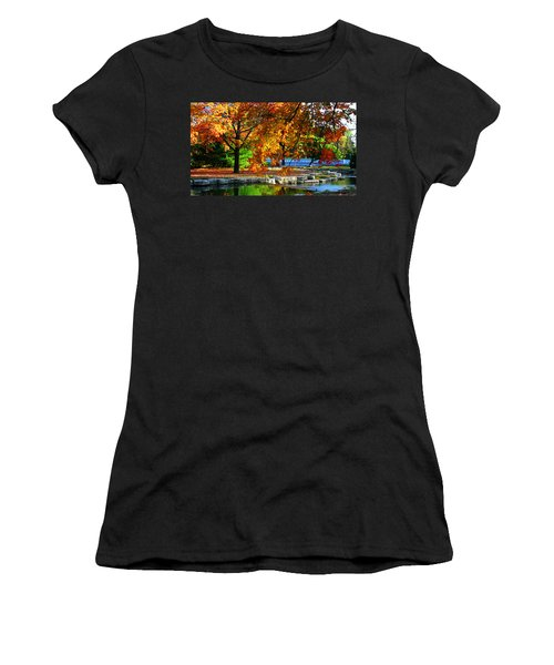 Fall Trees Landscape Stream Women's T-Shirt