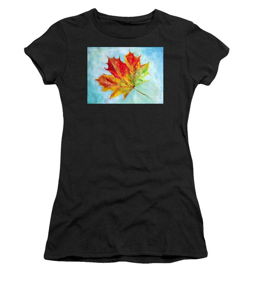 Falling Leaf - Painting Women's T-Shirt (Athletic Fit)
