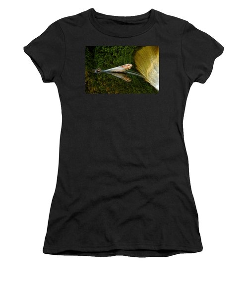 Falling Tree Reflections Women's T-Shirt (Junior Cut) by Debbie Oppermann