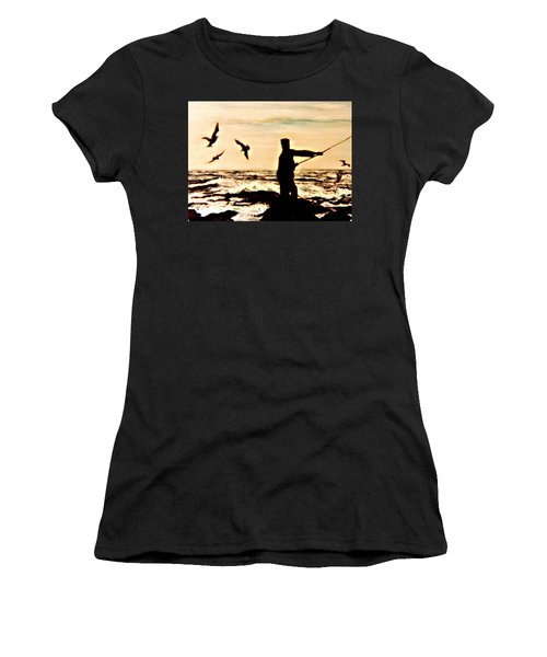 Father Fisherman Women's T-Shirt (Athletic Fit)